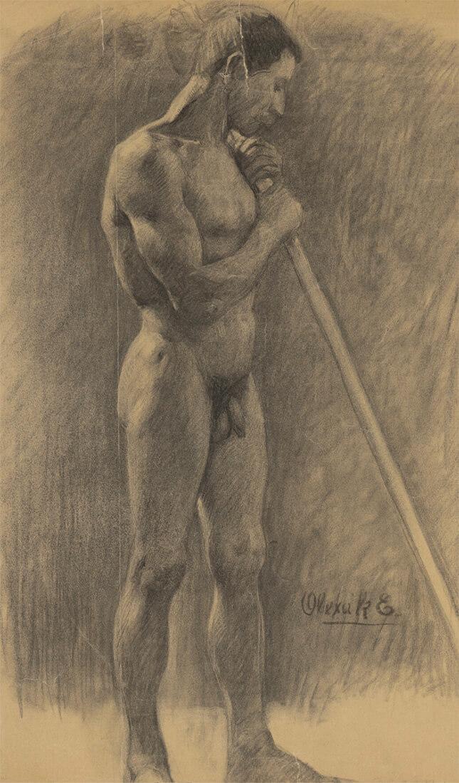 gallery-image-Štúdia stojaceho muža s palicou