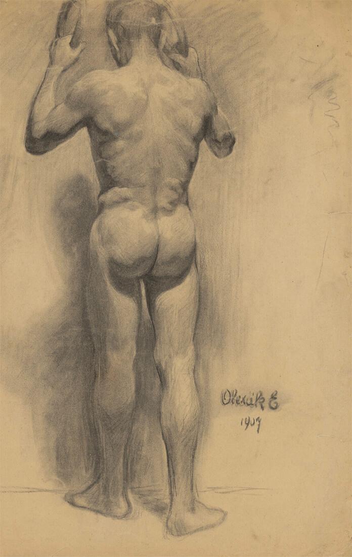 gallery-image-Štúdia stojaceho muža pri kruhoch