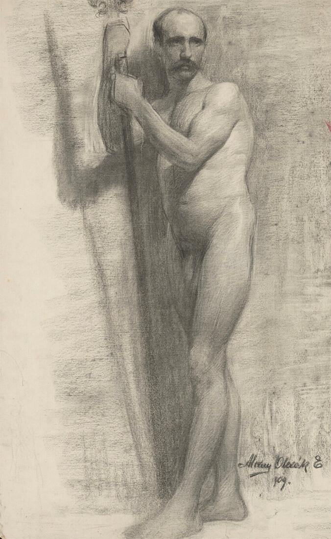 gallery-image-Štúdia opierajúceho sa o palicu